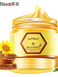 abordables -lamilée lait miel masque main soin des mains hydratant blanchissant soin de la peau exfoliant callosités film pour la main crème pour les mains 150g