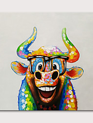 cheap -Oil Painting Hand Painted Square Animals Pop Art Modern Stretched Canvas