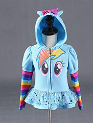 cheap -Kids Girls' Active Striped Print Print Short Suit & Blazer Blue
