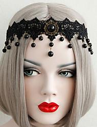 cheap -Women's Headbands For Halloween Club Theme Party Tassel Fringe Imitation Pearl Fabric Alloy Black 1