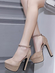 cheap -Women's Heels Stiletto Heel Pointed Toe Suede Summer Black / Almond / Daily
