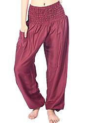 cheap -Women's Harem Smocked Waist Yoga Pants Solid Color Fitness Gym Workout Bloomers Bottoms Activewear Breathable Quick Dry Soft Stretchy Loose