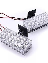 Недорогие -2шт 22 светодиодные фары дневного света мигающие аварийного предупреждения стробоскопы