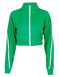 cheap -Women's Streetwear Track Jacket High Neck Running Gym Workout Breathable Quick Dry Soft Sportswear Top Activewear Stretchy / Sweat-wicking