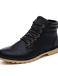 cheap -Men's Combat Boots PU Fall / Winter Casual / British Boots Walking Shoes Warm Black / Brown / Gray / Outdoor