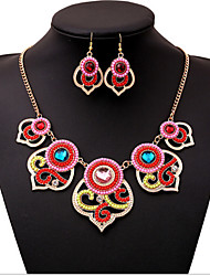 cheap -Women's Resin Bridal Jewelry Sets Geometrical Flower Classic Earrings Jewelry Rainbow For Party 1 set