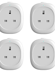 cheap -4 Pack Energy Monitoring Smart Plug  for Living Room / Study / Bedroom APP Control / Timing Function / Smart WIFI 110-150 V Smart Sokcet UK Four Pack
