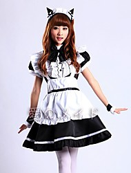 cheap -Inspired by Cosplay Cat Anime Cosplay Costumes Japanese Cosplay Suits Skirt Apron Bow For Women's / Headwear / Bracelets / Headwear / Bracelets