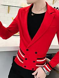cheap -Men's Blazer Shawl Lapel Polyester Black / Red