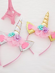 cheap -2pcs Headband Unicorn Halloween Holiday Head Buckle Jewelry Birthday GiftChild Baby Hair Accessories