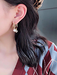 cheap -Women's Earrings Classic Joy Imitation Pearl Earrings Jewelry Gold For Gift Daily Festival 1 Pair