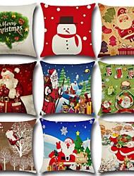 cheap -Santa Claus Christmas tree linen pillow cover ornaments