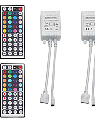 abordables -2pcs 12 V / 5 V / Alimenté par Port USB WiFi / Télécommandé / Accessoire de feuillard Plastique Manette pour la lumière de bande de LED RVB / pour la bande LED