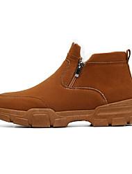 cheap -Men's Snow Boots PU Winter Classic Boots Black / Gray / Khaki
