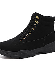 cheap -Men's Suede Shoes Suede Fall & Winter Classic / Casual Boots Walking Shoes Non-slipping Black / Beige / Outdoor / Combat Boots