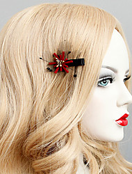 cheap -Women's Vintage Trendy Fashion Fabric Alloy Hair Clip Halloween Theme Party