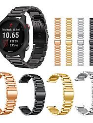 abordables -bracelet en acier inoxydable pour garmin précurseur 245 245m 645 / vivoactive 3 musique / vivomove bracelet hr bracelet de montre intelligente