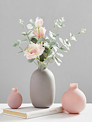 cheap -1pc Vases & Basket Round Glass Table Vase