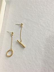cheap -Women's Earrings Mismatched Candy Vertical / Gold bar S925 Sterling Silver Earrings Jewelry Gold For Gift Daily Festival 1 Pair