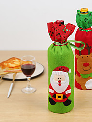 cheap -Wine Bags & Carriers / Gift Bags / Decoration Kits Holiday / Family Flannelette Cartoon / Party Christmas Decoration