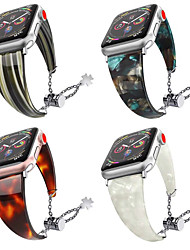cheap -Waterproof Resin Watchband For Apple Watch 40mm/44mm/38mm/42mm Fashion Metal Adjustment Bracelet Band Strap For Iwatch 4 3 2 1