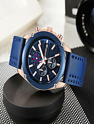 cheap -Men's Sport Watch Quartz Genuine Leather Calendar / date / day Noctilucent Day Date Analog Casual Outdoor - Black Blue Coffee