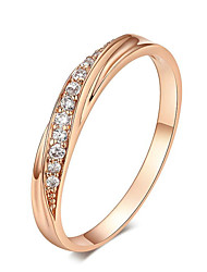 cheap -Cubic Zirconia Wedding Rings Silver/Rose Gold Color Wedding Ring Jewelry Wholesale