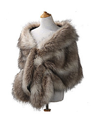cheap -Sleeveless Faux Fur / Acrylic Wedding / Party / Evening Women's Wrap With Solid Capelets