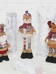 cheap -51cm Santa Claus snowman Christmas dolls Christmas decorations for home retractable foot toy birthday party gift children Natal