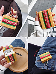 cheap -Cartoon Hot Dog Airpods1/2 generation wireless Bluetooth Headset Set silicone Sleeve Men And Women Personality Protective Sleeve