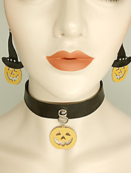 cheap -Women's Drop Earrings Choker Necklace Necklace Vintage Style Lucky Vintage Trendy Ethnic Gothic Fashion Earrings Jewelry Black For Halloween 1 set