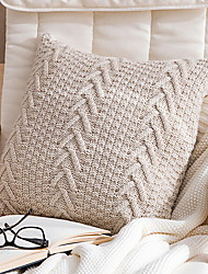 cheap -Set of 1 Cotton / Linen Pillow Cover, Solid Colored Throw Pillow