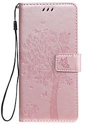 Недорогие -чехол для huawei honor 8a huawei y7 2019 чехол для телефона искусственная кожа материал с тиснением кошка и дерево шаблон сплошной цвет чехол для телефона