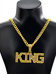 cheap -Men's Pendant Necklace Punk Chrome Gold Silver 70 cm Necklace Jewelry 1pc For Daily