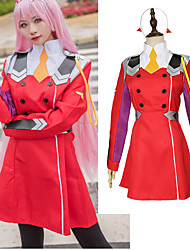 cheap -Inspired by Darling in the Franxx Cosplay Anime Cosplay Costumes Japanese Cosplay Suits Dress / Socks / Headwear For Women's