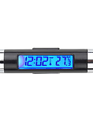 cheap -Car Electronic Clock Thermometer Car Luminous Clock Air Outlet Temperature Gauge Two-In-One Supplies Clip K01