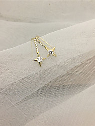 cheap -Women's Earrings Classic Star Candy Earrings Jewelry Gold / Silver For Gift Daily Festival 1 Pair