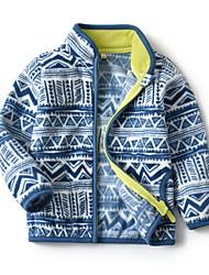 Недорогие -Дети Девочки Уличный стиль Геометрический принт Куртка / пальто Желтый