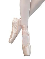 cheap -Women's Dance Shoes Satin Ballet Shoes Heel Flat Heel Customizable Nude