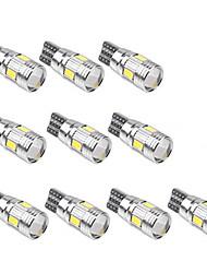 Недорогие -10 шт. T10 Автомобиль Лампы SMD 5630 6 Светодиодная лампа Подсветка для номерного знака / Рабочее освещение / Задний свет Назначение Универсальный Все года