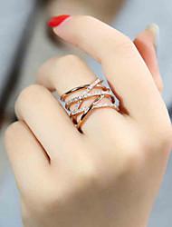 cheap -Women's Ring 1pc Silver Rose Gold Silver Circular Basic Korean Fashion Festival Jewelry