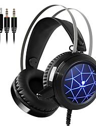 Недорогие -Nubwo N1 игровые наушники Deep Bass игровая гарнитура наушники с микрофоном голосовое управление светодиодный свет для компьютера ПК Promot