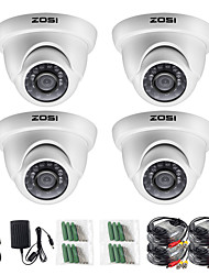 cheap -ZOSI 4pcs/lot 720P HD-TVI 1MP CCTV Dome Camera Home Security System Waterproof for 720P HD-TVI DVR Systems