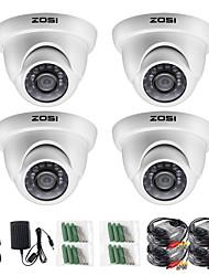 abordables -zosi 4pcs / lot 720p hd-tvi 1mp cctv dôme caméra système de sécurité de la maison étanche pour 720p hd-tvi dvr systèmes