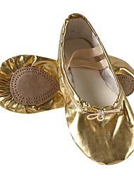 cheap -Women's Ballet Shoes Leather Flat Flat Heel Dance Shoes Gold / Performance