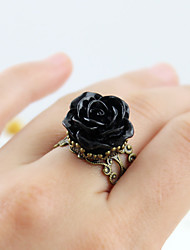 cheap -Ring Hollow Out Black Yellow Blue Resin Alloy Flower Shape Artistic Luxury Unique Design 1pc 9 / Women's