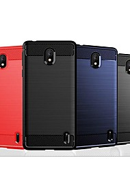 cheap -Case For Nokia 9 / Nokia 1 Plus / Nokia 8 Sirocco Shockproof / Ultra-thin Back Cover Solid Colored / Lines / Waves TPU / Carbon Fiber Case For Nokia 4.2 / Nokia 3.2 / Nokia X6 / Nokia X5 / Nokia 7.1