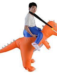 abordables -Dinosaure Costume Gonflable Adultes Adulte Homme Halloween Halloween Fête / Célébration Rayon / polyester Orange Homme Femme Déguisement Carnaval / Collant / Combinaison / Manuel D'Utilisation