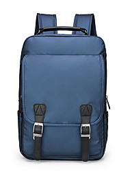 cheap -Large Capacity Oxford Cloth Zipper Commuter Backpack Solid Color Daily Black / Gold / Blue