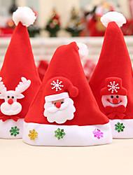 Недорогие -3 шт. Детский рождественский мультфильм различные украшения шляпа / праздничные украшения новый год-случайный отправить